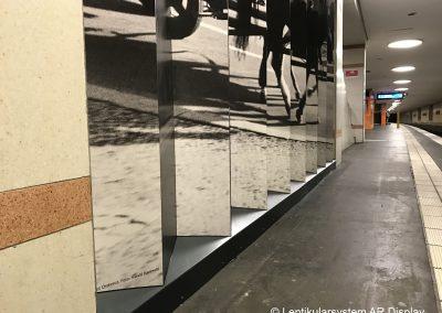 Lentikularwand S-Bahn