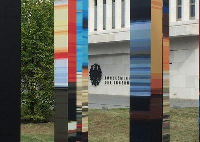 Im Garten des Bundesministeriums des Innern